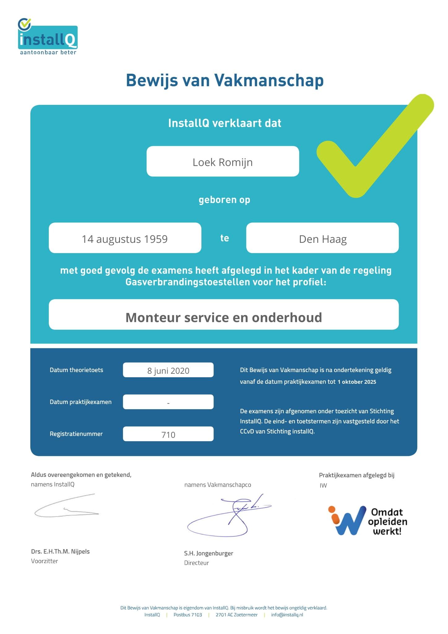CO Certificering